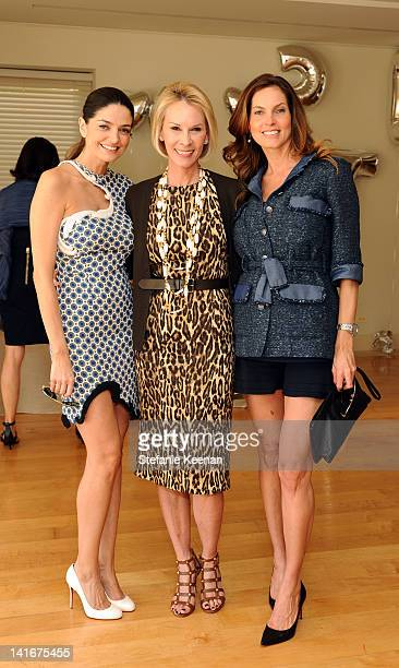 Cio Soler Cheryl Saban and Mareva Marciano attend Annual HEART Brunch at Private Residence on March 21 2012 in Beverly Hills California
