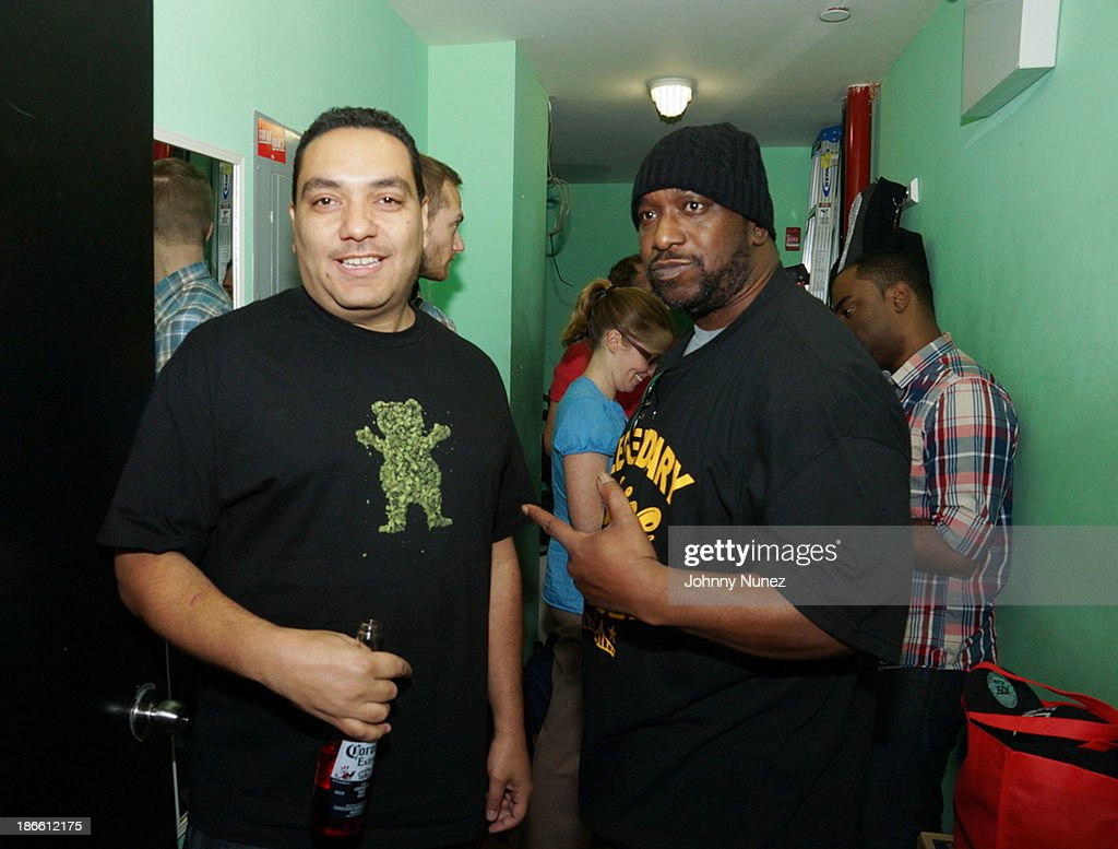 Cipha Sounds and Kool G Rap attend Take It Personal Featuring Kool G Rap & Necro at UCB Theatre on November 1, 2013 in New York City.