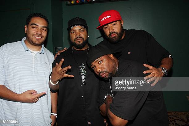 Cipha Sounds Ice Cube WC and Ebro attend Ice Cube's 'Raw Footage' album preview and performance at Rehab on August 8 2008 in New York City