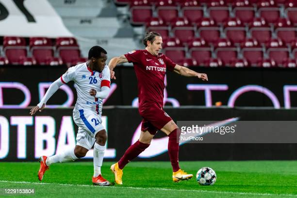 Ciprian Deac in action during the 7th game in the Romania League 1 between CFR Cluj and FC Botosani, at Dr.-Constantin-Radulescu-Stadium,...
