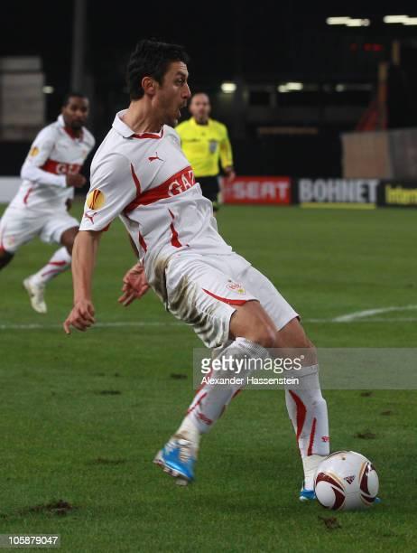 Ciprian Marica of Stuttgart scores his first team goal during the UEFA Europa League group H match between VfB Stuttgart and Getafe CF at...