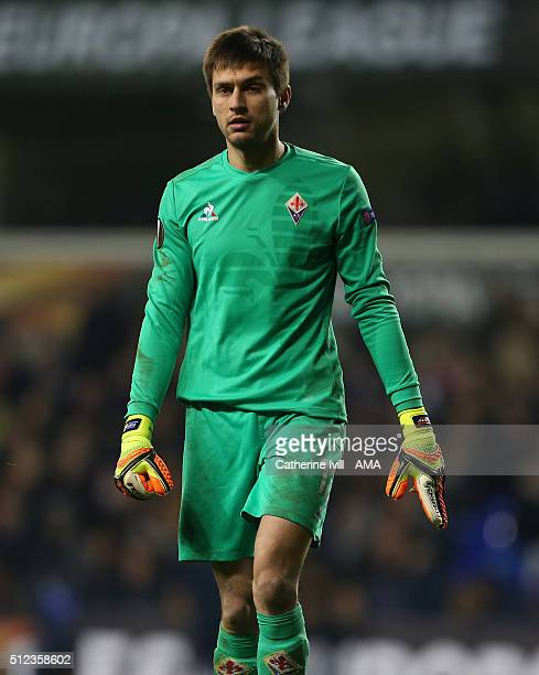 Ciprian Tatarusanu of Fiorentina during the UEFA Europa League match between Tottenham Hotspur and Fiorentina at White Hart Lane on February 25 2016...