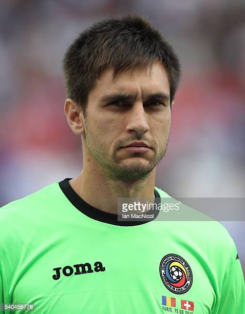 Ciprian Tatarusanu of Romania looks on during the UEFA EURO 2016 Group A match between Romania and Switzerland at Parc des Princes on June 15 2016 in...