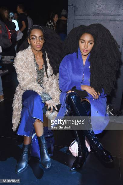 Cipriana Quann and TK Wonder attend the Cushnie Et Ochs fashion show during February 2017 New York Fashion Week at Gallery 1 Skylight Clarkson Sq on...