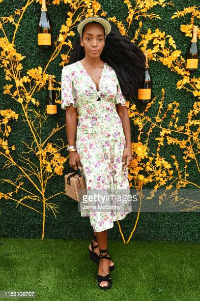 Cipriana Quann attends the 12th Annual Veuve Clicquot Polo Classic at Liberty State Park on June 01 2019 in Jersey City New Jersey