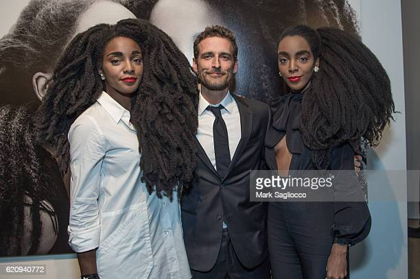 Cipriana Quann Photographer Alexi Lubomirski and TK Quann attend 'Diverse Beauty' Book Launch Exhibition Opening at Milk Gallery on November 3 2016...