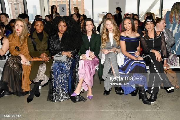 Cipriana Quann TK Wonder Elena Matei Bella Harris Elaine Welteroth and Tess Holliday attend the Tadashi Shoji FW'19 Fashion Show front row during New...