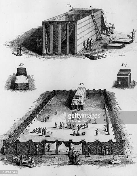 Circa 1000 BC Two views of The Tabernacle in the Wilderness From the Book of Exodus the Old Testament