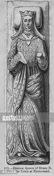 Circa 1175 Queen Eleanor married to Henry II in 1152 the divorced wife of Louis VII