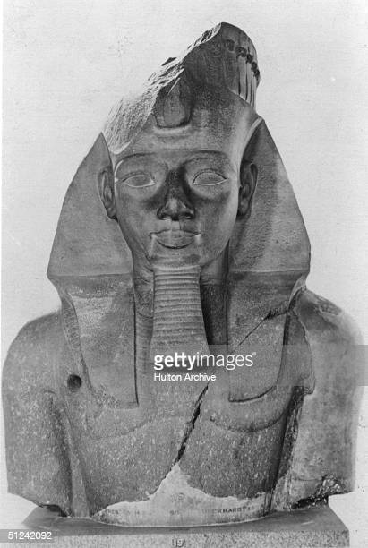 Circa 1212 BC A statue of the Pharaoh of Egypt Ramses II known as 'The Great' He reigned from 1279 1212 BC