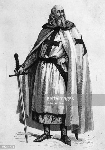 Circa 1300 Jacques de Molay the 23rd and last Grand Master of the Knights Templar who joined the order aged 21