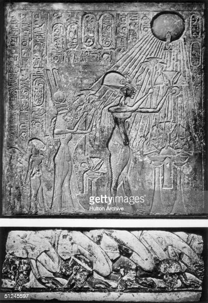 Circa 1350 BC King Akhenaten and his Queen Nefertiti worship Aten or Aton the Sun God Originally named Amenhotep IV the king changed his name to...