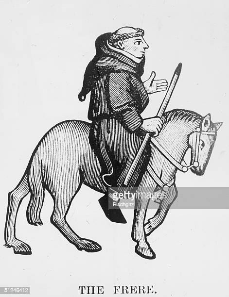 Circa 1400 The Friar from Geoffrey Chaucer's Canterbury Tales