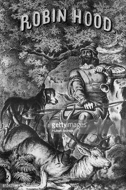 Circa 1400 The legendary hero and outlaw of medieval England Robin Hood who lived in Sherwood Forest with Friar Tuck Little John Maid Marrian and his...