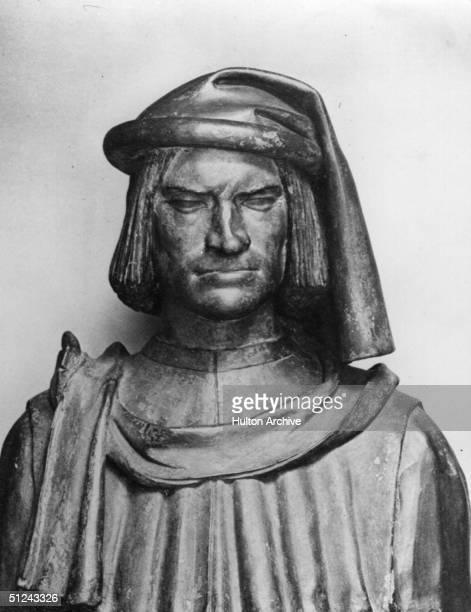 Circa 1480 A bust of Lorenzo di Medici 'Il Magnifico'
