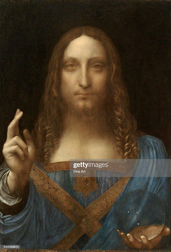 Salvator Mundi attributed to Leonardo da Vinci : Photo d'actualité