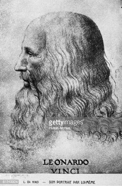 Circa 1500 Italian painter sculptor architect and engineer Leonardo da Vinci Original Artwork Self portrait