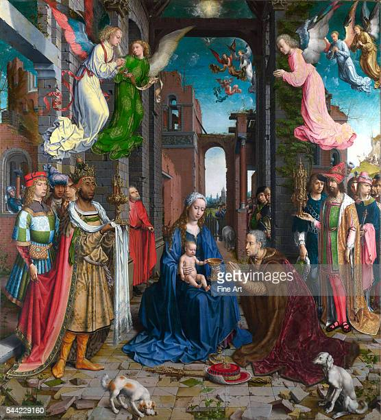 Circa 15101515 oil on oak 1772 x 1618 cm National Gallery London England Altarpiece made for a church in Brussels Belgium Northern Renaissance