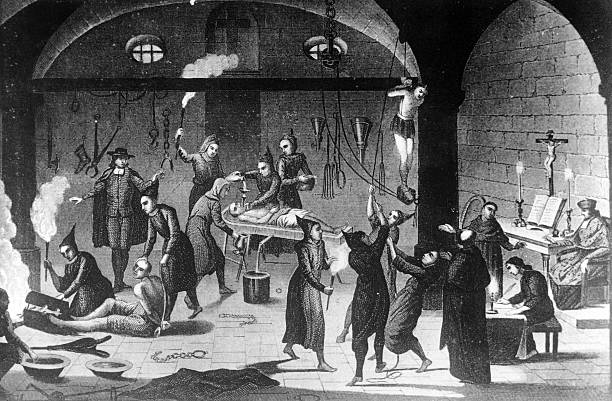 Circa 1520, The Spanish Inquisition at work on suspected...