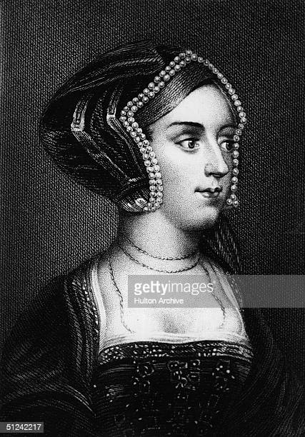 Circa 1533, Anne Boleyn , Queen of England from 1533 -1536, wife of Henry VIII, who beheaded her for treason.