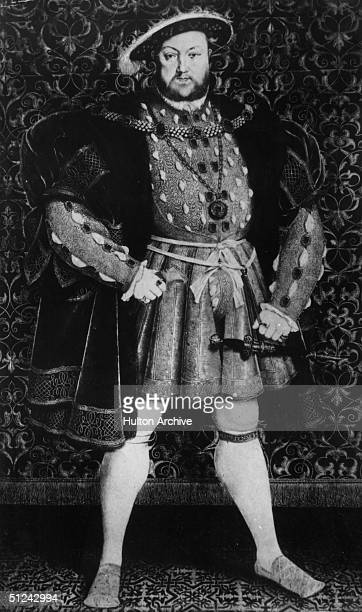 Circa 1540 Henry VIII King of England from 1509 married six times Original Publication From a portrait by Holbein