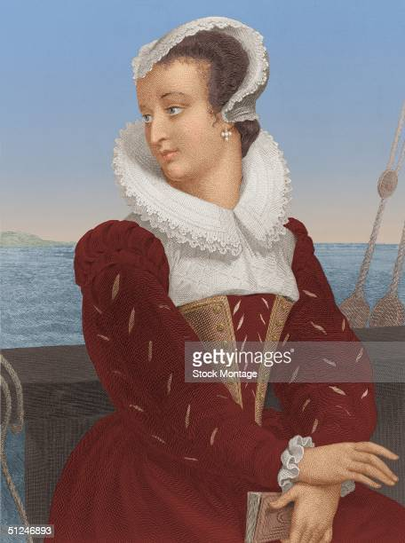 Circa 1565, Portrait of Mary Stuart, Queen of Scots . Sought to impose Catholicism, abdicated in 1567, was imprisoned by Elizabeth I, tried and...