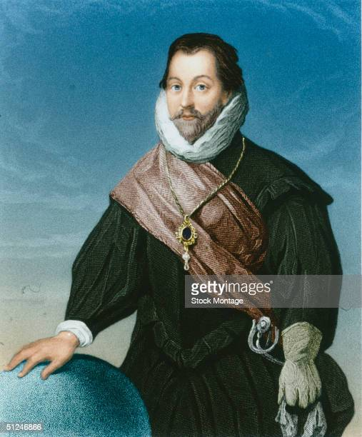 Circa 1585 Francis Drake English admiral first English sailor to reach the Pacific Ocean 1572 circumnavigated the globe 157780 preyed successfully on...