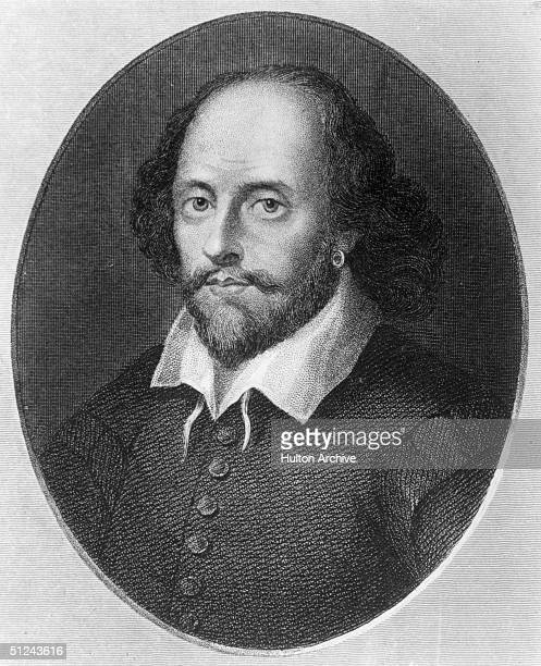 Circa 1600 English poet and playwright William Shakespeare Original Artwork Engraving by B Holl after a print by Houbraken
