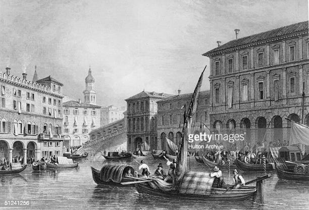 Circa 1600 Engraving of Venice from a drawing by W Brockedon
