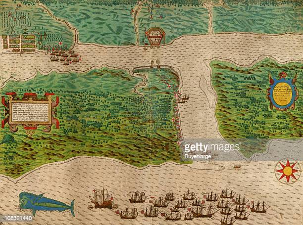 Circa 1600 Spanish settlements at St Augustine are attacked by the English navigator Francis Drake in 1586