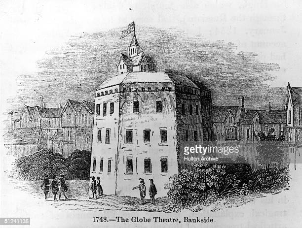 Circa 1600 The Globe Theatre at Bankside London