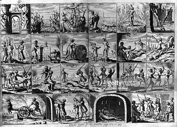 Circa 1635 Twenty two different tortures inflicted on Christian slaves in the Barbary States of North Africa in the 1600's Original Publication From...