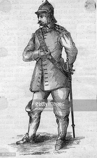 Circa 1640 A trooper of Oliver Cromwell's Roundhead army