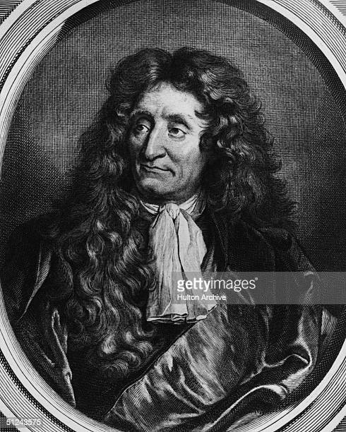 Circa 1670, Jean De La Fontaine the French writer whose portrait was painted by Rigault.