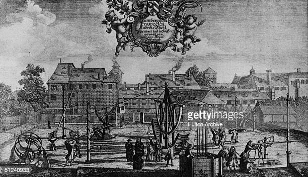Circa 1690 An early observatory possibly German