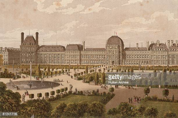 Circa 1700, The famous gardens of the Tuileries, a magnificent royal palace in the centre of Paris. Originally built for Catherine de Medici, the...