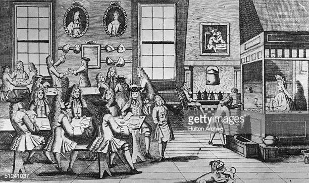 Circa 1740 A London coffee house