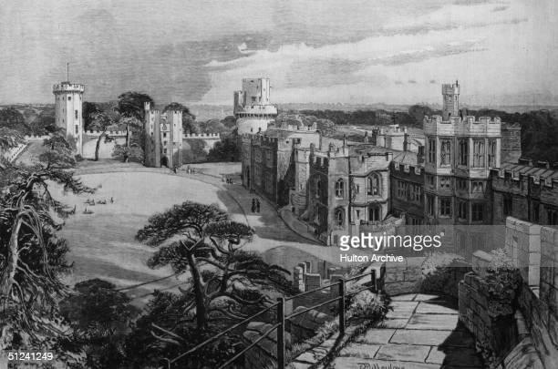 Circa 1750 Warwick Castle in England