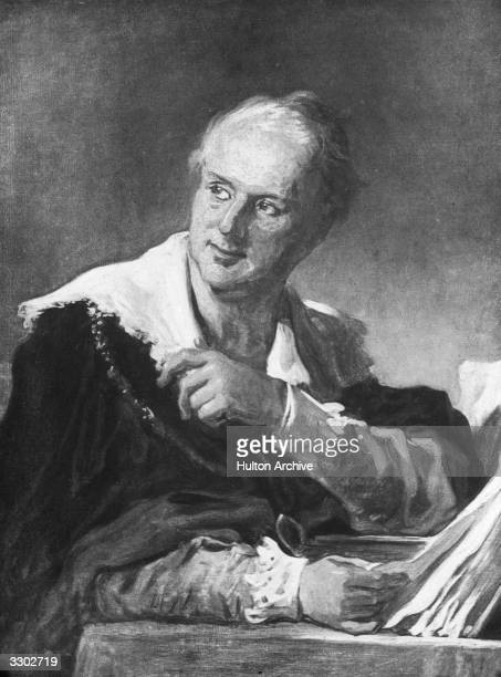 Portrait of the French writer and scholar Denis Diderot