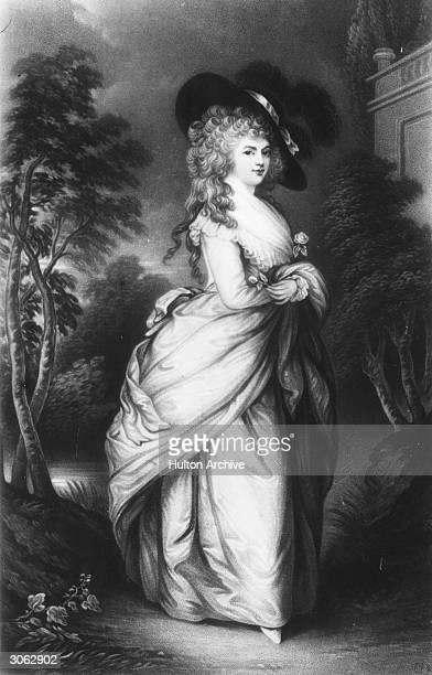 Duchess of Devonshire Georgiana Spencer wife of the 5th Duke of Devonshire Original Artwork Painting by Gainsborough