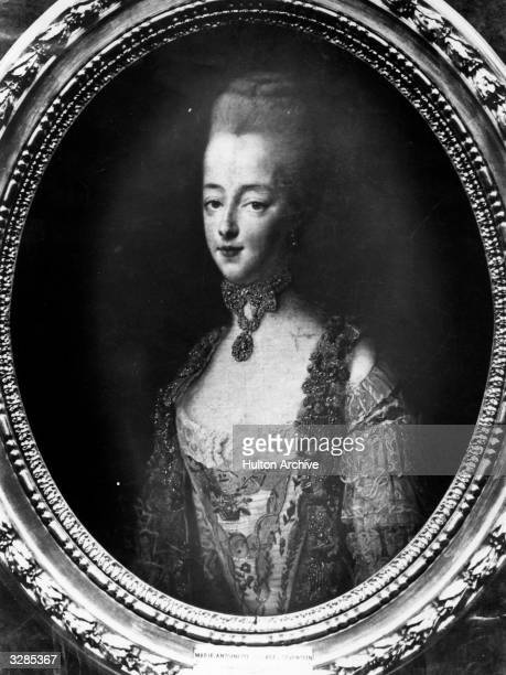 Marie Antoinette Queen of France as Dauphine de France She married the future King Louis XVI in 1770 Original Artwork Painting by Drouais