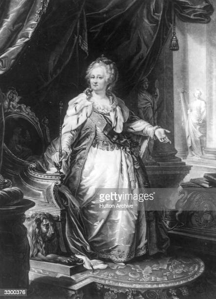 Empress of Russia Catherine II known as Catherine the Great for her many reforms to modernise Russia Original Artwork After a painting by Lambi