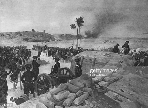 A battle taking place at Pondicherry the capital of French India
