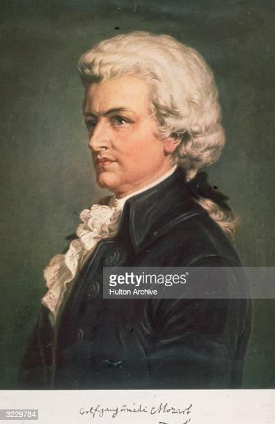 Austrian composer Wolfgang Amadeus Mozart .