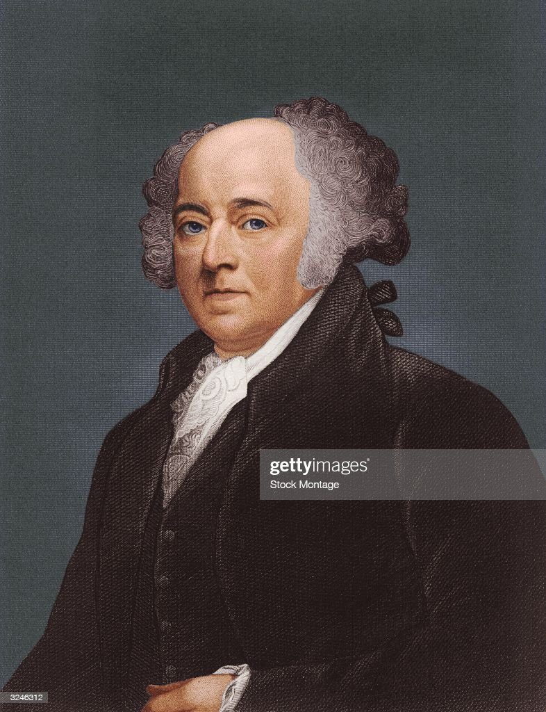John Adams (1735 - 1826) second president of the United States of America.