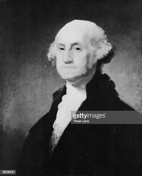 The 1st President of the United States George Washington The painting is similar to the one used for United States postage stamps by Gilbert Stuart...