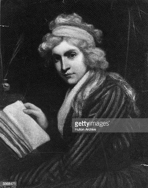 English feminist and writer Mary Wollstonecraft who married political author William Godwin and died shortly after giving birth to their child Mary...