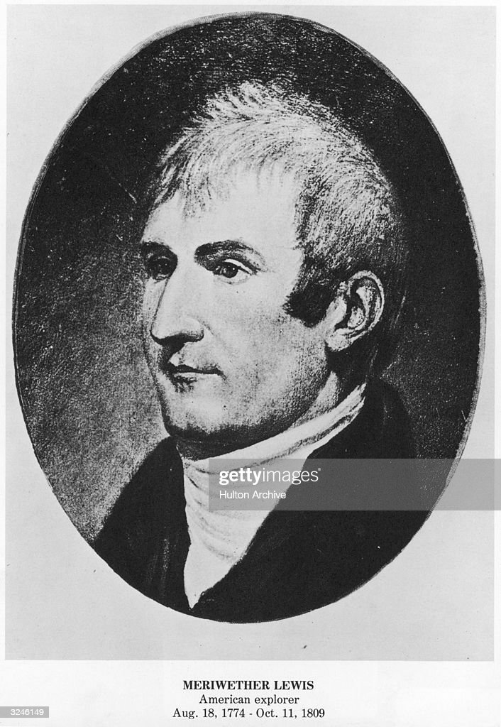 American explorer Meriwether Lewis (1774 - 1809) known for his expedition, between 1804 and 1806, with William Clark to the unknown territories west of the Mississippi River.