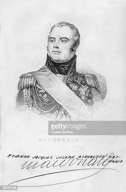 Jacques Etienne MacDonald French soldier fought in the major campaigns of the French Revolutionary and Napoleonic Wars including Italian Spanish...
