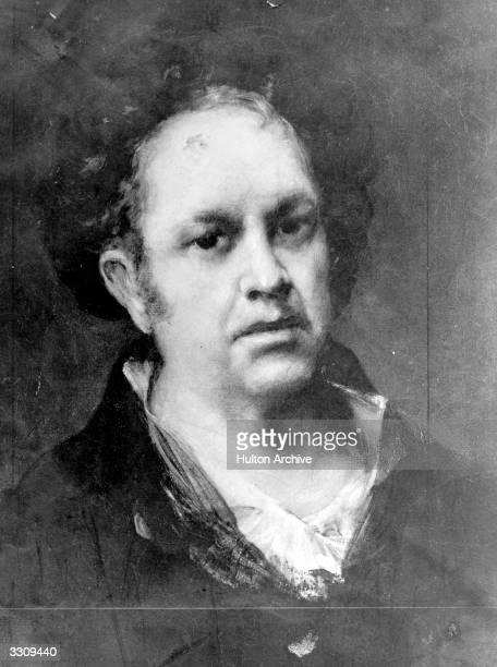 The Spanish artist Francisco Jose de Goya y Lucientes Selfportrait
